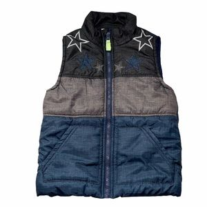 Kids Headquarters puffer vest with stars size 4T